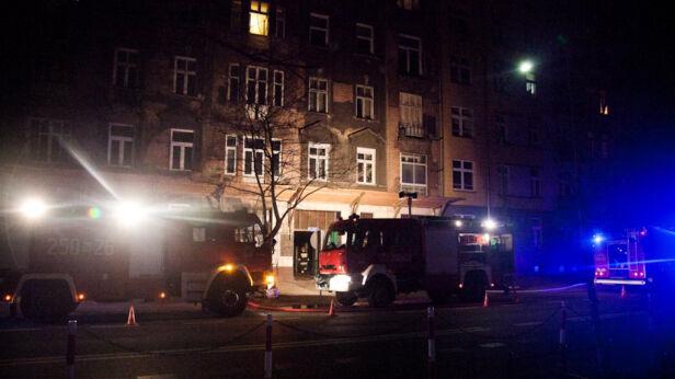 Pożar kamienicy przy ul. Jagiellońskiej z 6 grudnia fot. Kontakt24