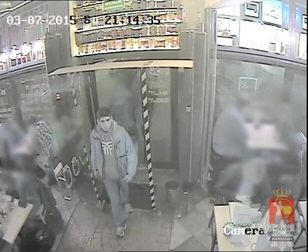 Wizerunek mężczyzny zarejestrowała kamera monitoringu ksp