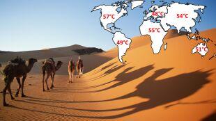 Gorąco? Światowy rekord to 56,7 st. C...