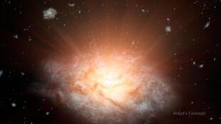Najjaśniejsza galaktyka we Wszechświecie z czarną dziurą w sercu