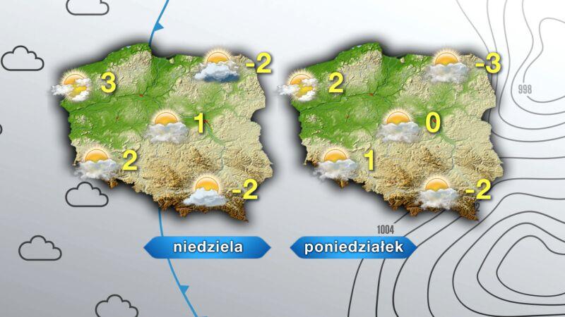 Prognoza pogody na niedzielę i poniedziałek