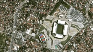 Tak z orbity wyglądały postępy budowy stadionów na mundial