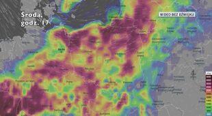 Potencjalne burze w kolejnych dniach (Ventusky.com) | wideo bez dźwięku